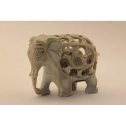 Speckstein Elefant Undercut
